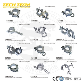 D50 Aluminum Tube Clamp with Conical Connector truss clamps, View Tube  Clamp, TECH TRUSS Product Details from Techteam Co , Ltd  on Alibaba com