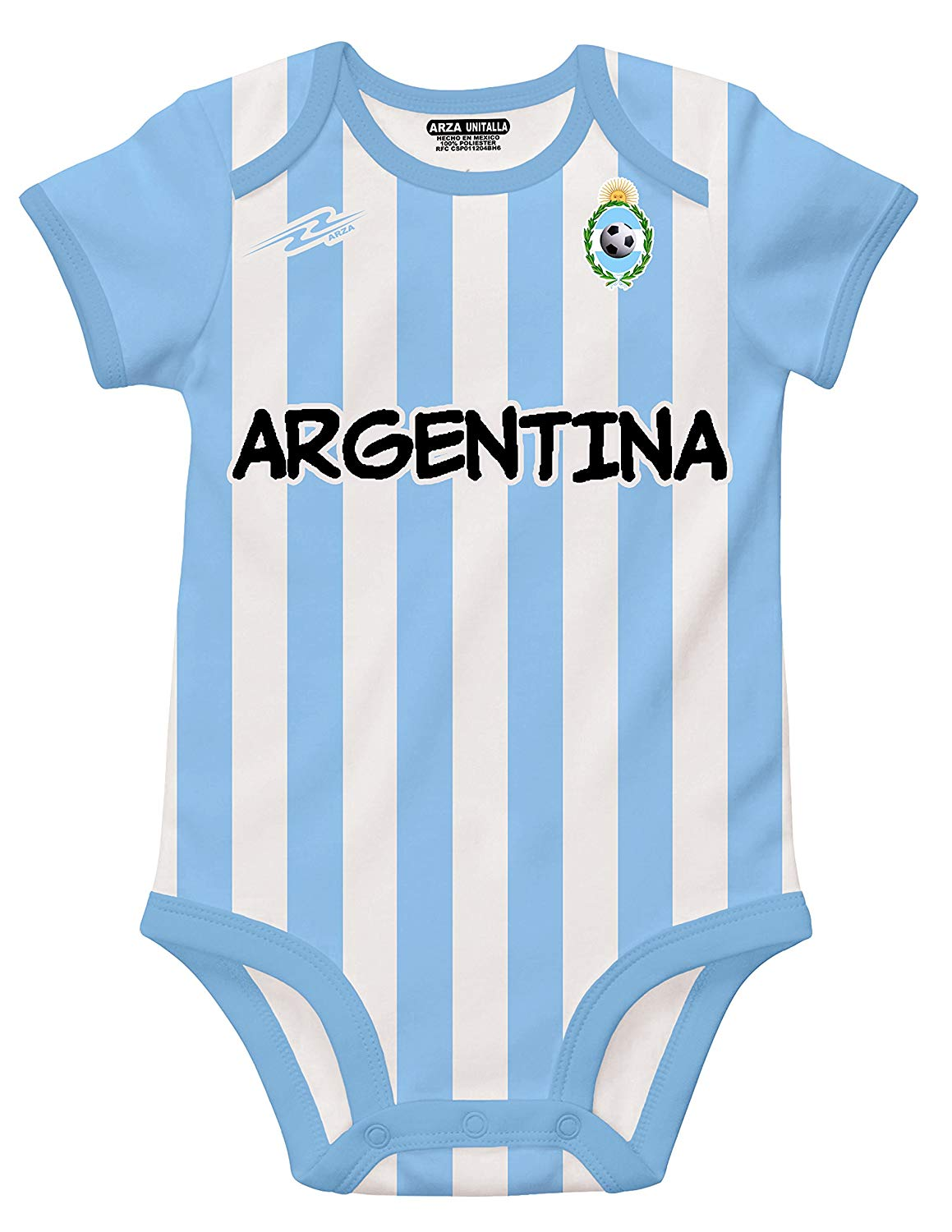60ece2424ad Get Quotations · Argentina Soccer White Baby Outfit Romper Onesi Mameluco