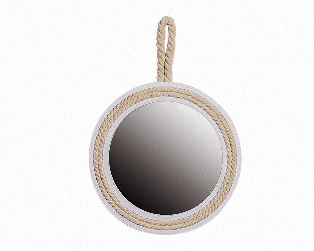 Retro Fogless Shower Mirror Fog Free for Bathroom Creative Rope Design Home Decoration