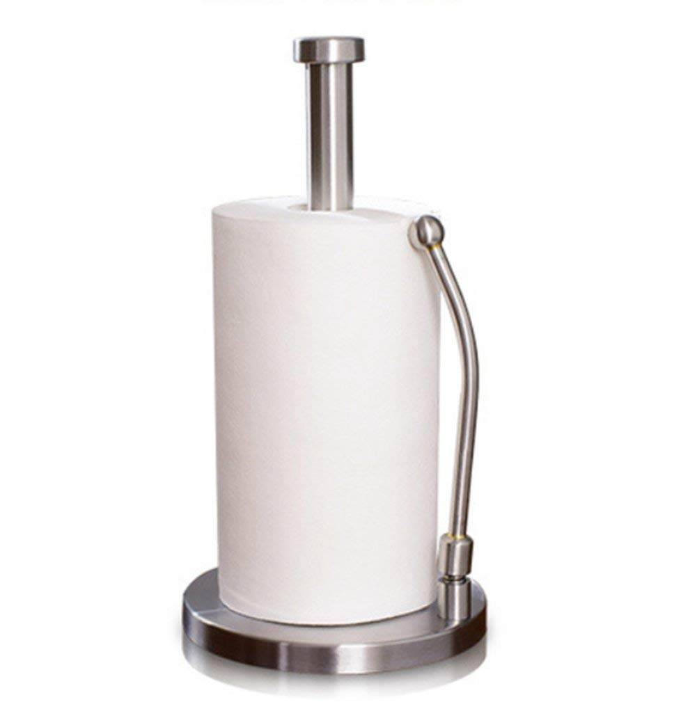 Upright Paper Towel Holder One Hand Pull Tear Sy Stainless Steel