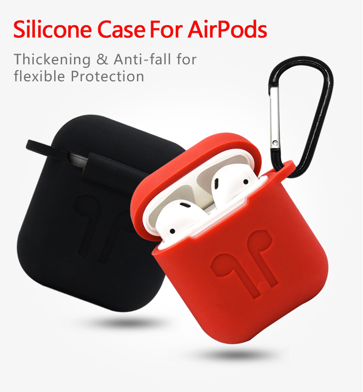 2019 New Arrival 7 in 1 High Quality Thick Strong Silicon Protective Cover Case and Skin For Airpod Charging Case