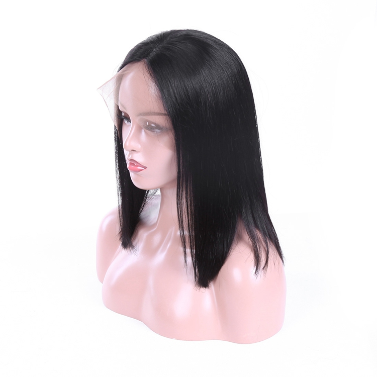 BOBO Human Hair Lace Front Wig, Virgin Brazilian Lace Wig Human Hair Straight