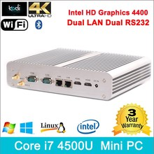 Core i7 mac computer intel HD 4400 Graphics 4K HD Mac mini i7 2 LAN 2 Rs232 300m WIFI