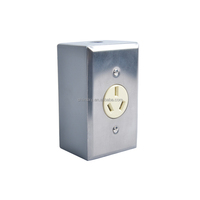 15A 125V 60hz wired decorator Single receptacle ,white With One Gang Metal Box match Steel Plate