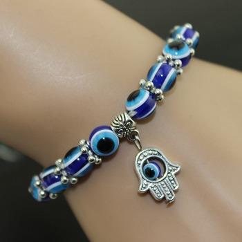 H-001 Ally Express Wholesale Bracelet Custom Evil Eye Beads Charm Turkish  Eyes Hamsa Bracelet c4e715f64594