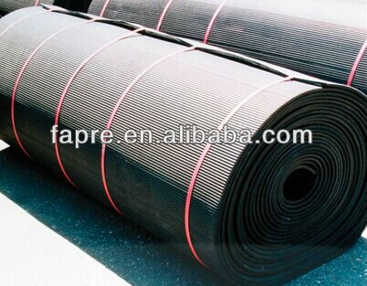 Gold Supplier For Horse Stall Black Rolled Alley Mat