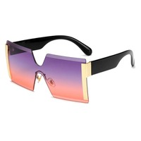 Newest Hot-selling Wholesale OEM Square Style Plastic Frame Shade Sunglasses
