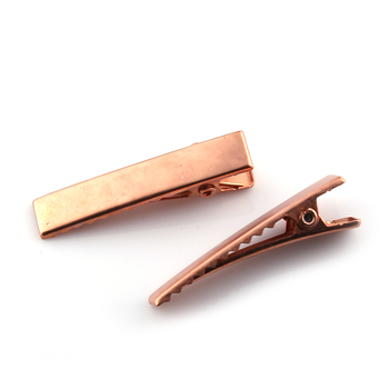 Wholesale Diy Plain Hair Clips Materials Rose Gold Plated Metal Alligator Hair Clips 3 5cm Buy High Quality Gold Hair Clips Diy Hair Clip Plated