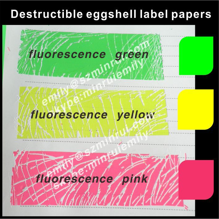 Custom Eyecatching Fluorescence Colors Breakable Tamper Evident - Graffiti custom vinyl stickers