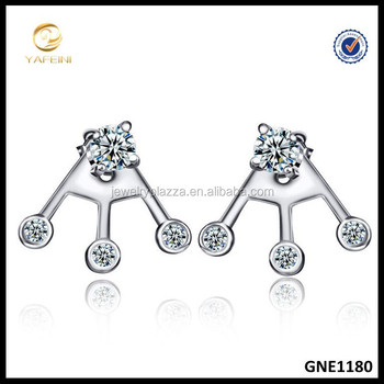 YFN Design Fashion Jewelry Sterling Silver Ear Jacket 925 Earrings Wholesale