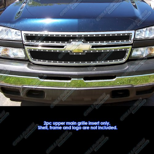 06 Chevy Silverado 1500/05-06 2500/3500 Rivet Stainless Steel Mesh Grille Grill