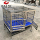 BAIYI Brand Foldable Stainless Steel Dog Cage, Dog Crate, Pet Cage with Plastic Floor