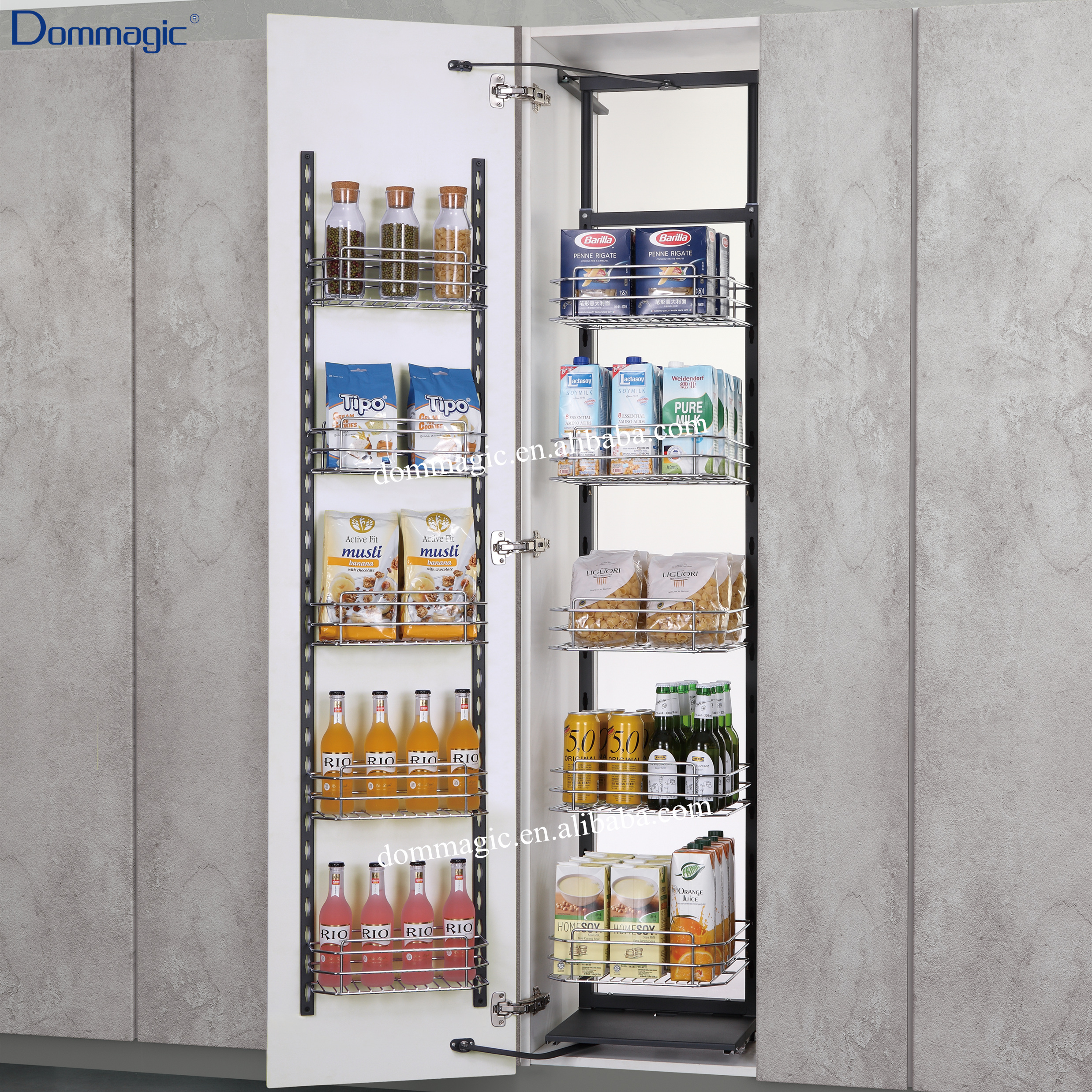 Kitchen Cabinet Pull Out Pantry Unit