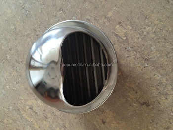 304/201 Stainless Steel Wall Air Vents Louvers Vent Cap Spherical ...