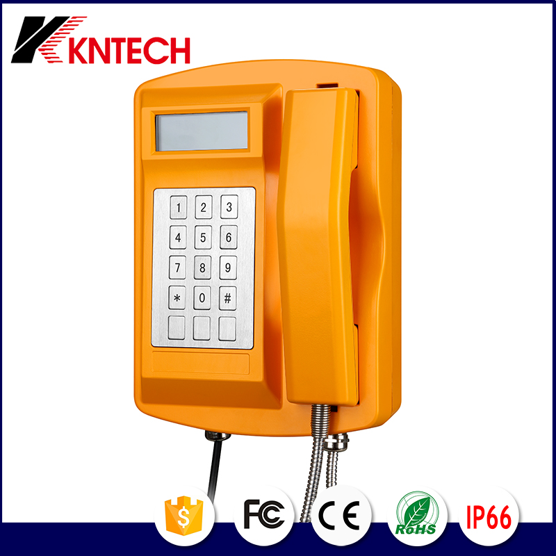 KNTECH Metro Telephone Wall Mounted Industrial Telephone KNSP-18LCD