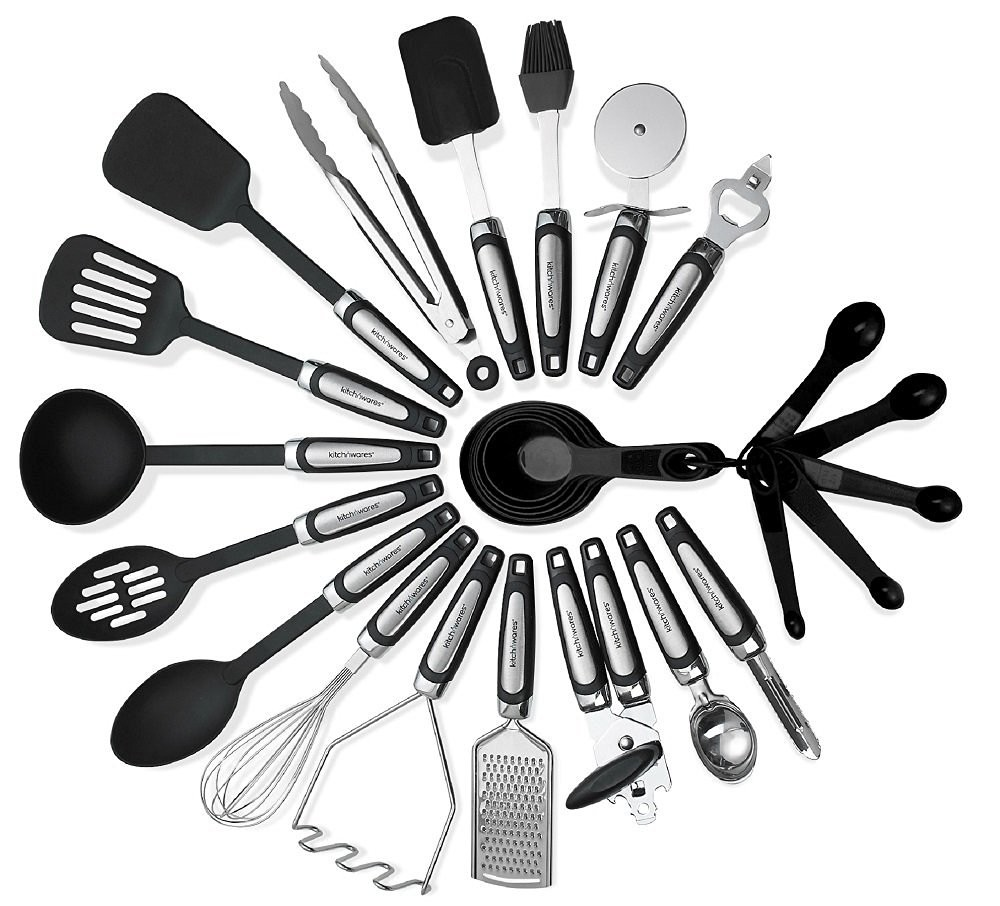 26 Piece Household Stainless Steel And Nylon Kitchen