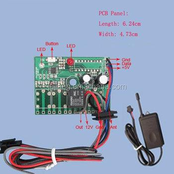 Auto Gategate Door Rf Wireless Transmitter And Wire Solder Receiver