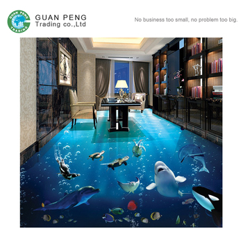 Non Slip Digital Dolphin Bathroom Tile 3d Ceramic Floor Tile Prices
