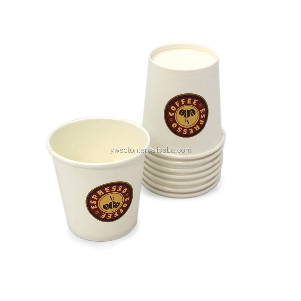 Disposable Espresso Paper Coffee Mugs 4 Oz Cup