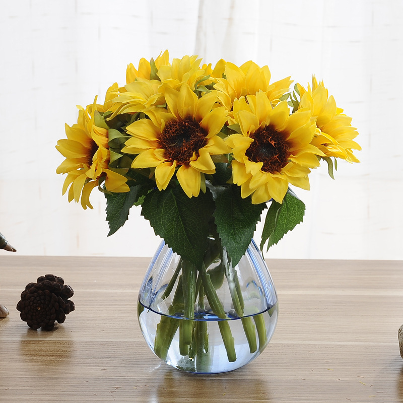 6pcsbunch yellow sunflower bouquet artificial flower silk flower 6pcsbunch yellow sunflower bouquet artificial flower silk flower fake plant for wedding home party mightylinksfo