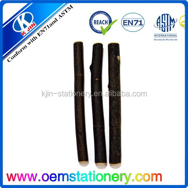 wood branch ball pen with customized logo printing for promotion