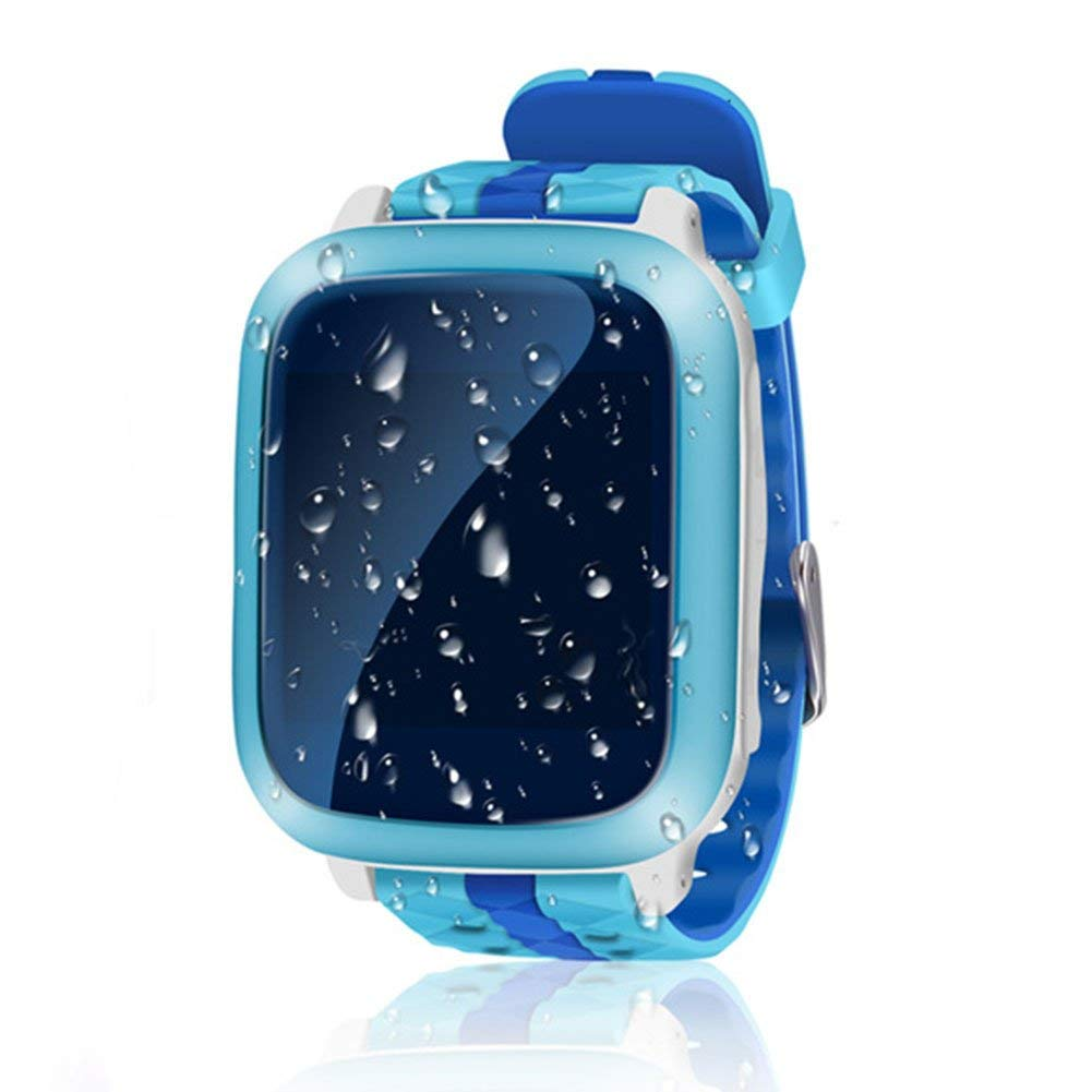 Childrens Smartwatch, Ragdoll50 Waterproof GPS DS18 WIFI Locator Tracker Kid Wristwatch Anti-lost SOS Call Smartwatch Phone Bracelet Wrist Watch (394713.9mm,Blue)