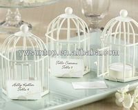 White Birdcage place card holder tealight Holder wedding party gifts supplies