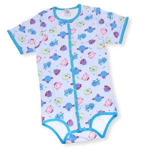 Wholesale Cheap Custom Summer Cotton Printed Adult Baby Onesie