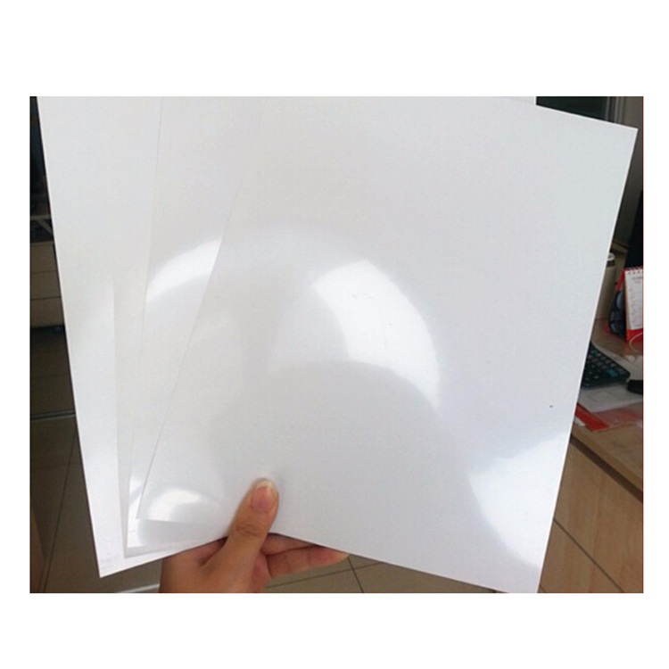 Nifty image inside printable plastic sheet