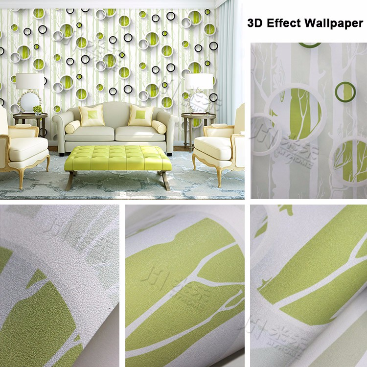 High quality cheap modern pvc wallpaper for hotel