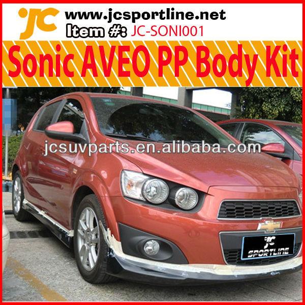 Sonic Hatchback Body Kit For Chevrolet Chevy Aveo Pp Bumper Lip Kits