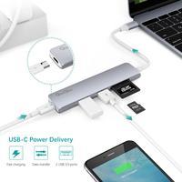 Custom Slim Superspeed 5 Port Usb Hub For Smart Phones And Laptops