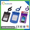 High quality transparent blue PVC cell phone dry pouch, clear bag case with arm band
