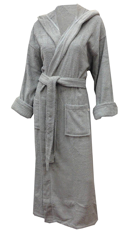 4653b565f9 Get Quotations · Aegean Apparel Hooded Solid Cotton Terry Heavyweight Spa  Bathrobe