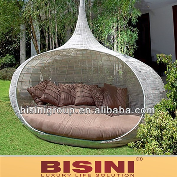 Outdoor Round Daybed Rattan Daybed With Canopy (bf10-r569) - Buy ...