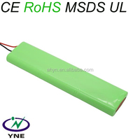 AA 9.6V 1500mah nimh rechargeable battery pack for solar lights