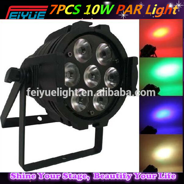 China Made 7pcs 4in1 10w Led Par Zoom Stage Light/ music festival decoration light