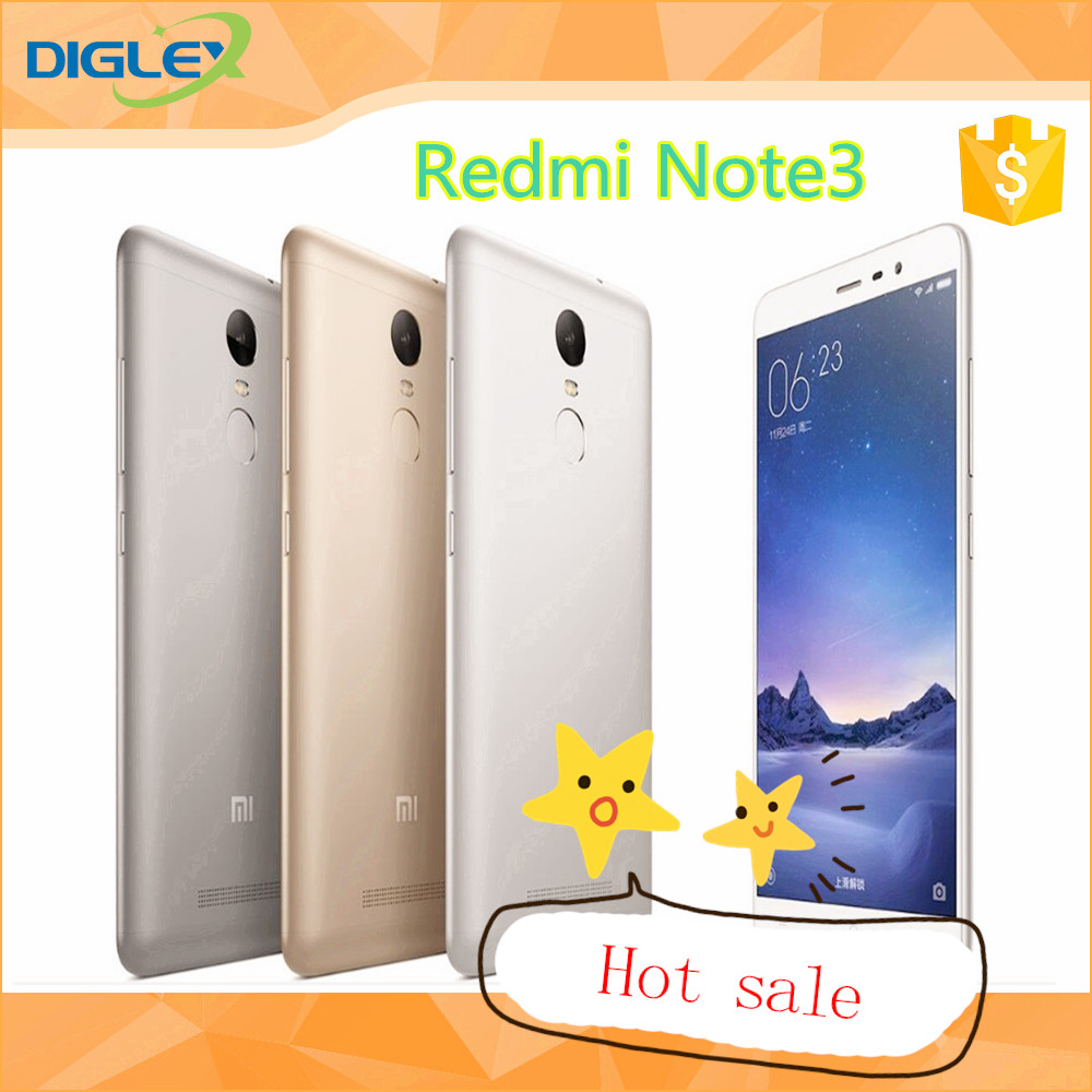 2016 New Arrival Redmi note 3 ROM 16GB/32GB 5.5 INCH MIUI 7 factory price distributor hot sale cell phone