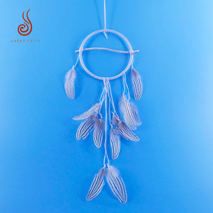 China factory supplies pheasant feather dream catcher for home decoration