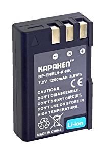 Kapaxen EN-EL9 Li-Ion Rechargeable Battery Pack for Select Nikon DSLR Cameras