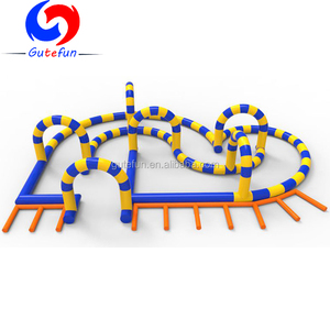2018 new deisgn cheap PVC inflatable race track fence wall for animal car riding