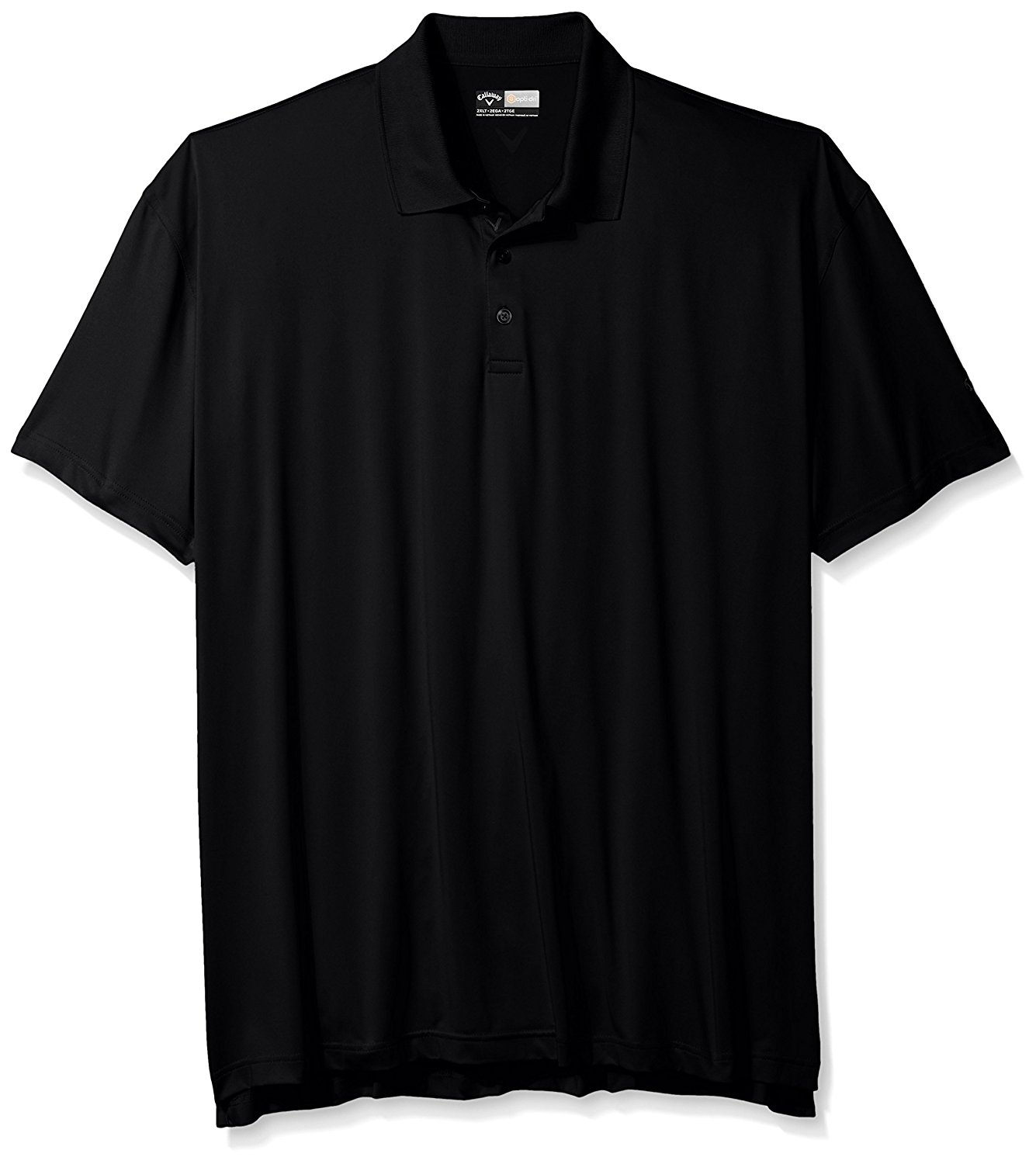 Callaway Men's Big & Tall Golf Performance Solid Short Sleeve Polo Shirt