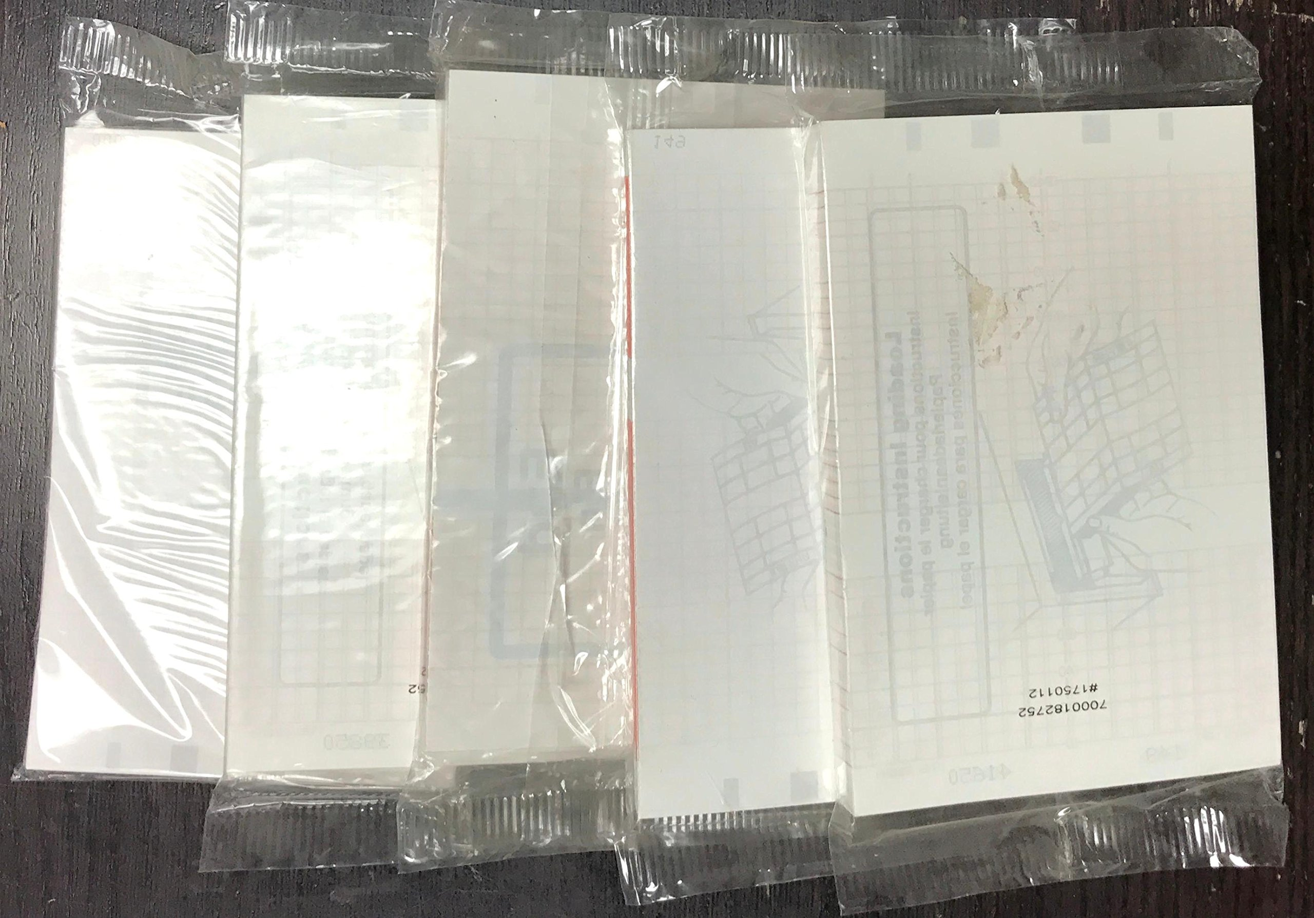 HP Compatible M1910A Fetal Monitoring Recording Charts, 40 Packs Per Case, Z-Fold, Size 150mm x 49', Grid Color Red