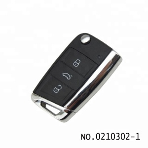 High quality wholesale auto 3 Button car folding Remote key shell for VW Golf 7 generation 0210302-1