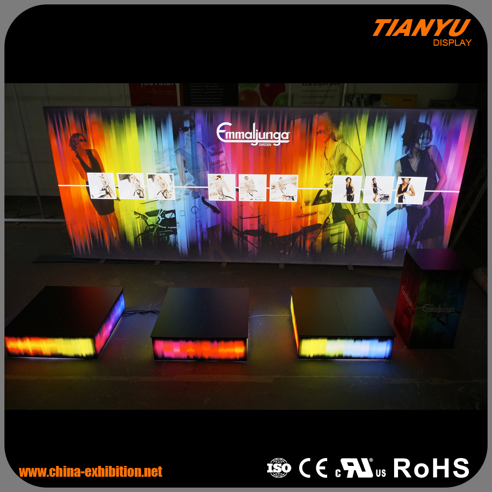 2016 hot sales display case for aluminum frame art exhibition display stands