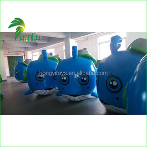 Giant Inflatable Blue Whale , Inflatable Swimming Pool Toys , Life Size Inflatable Float Whale