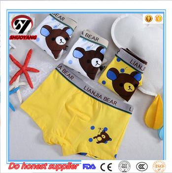 0affab91f56b 2-10 years child boy underwear cute 100% cotton little modeling panties