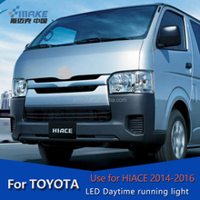 for TOYOTA HIACE car Auot Accessories parts fog light LED Daytime Running Light fog lamp cover DRL for TOYOTA HIACE 2014-2016