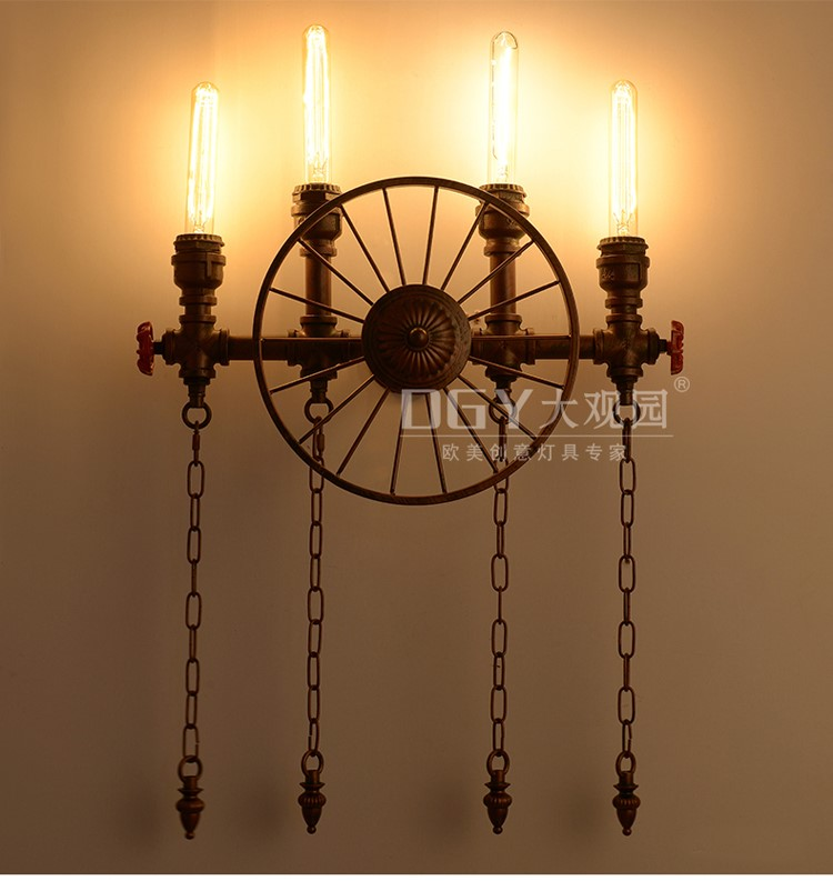 Pirate Ship Steering Wheel Wall Sconce Wholesale Unique Wall