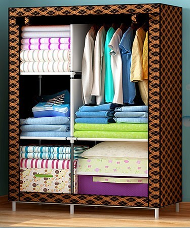 DIY non-woven closet fabric cubboards and cabinet store clothes